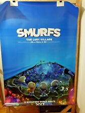 Smurfs Lost Village (2017) IMAX DS 2 Sided 4 x 6 Bus Shelter Poster