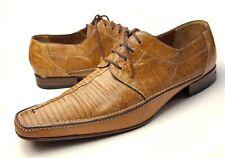 Mezlan PLATINUM 11 M Lizard Skin Leather Tan Casual Shoes Leather Lace Ends