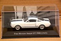 Altaya 1:43 Ford Mustang Shelby GT 350H 1965 Diecast Car Models Collection White