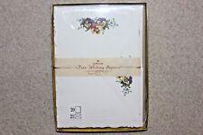 Vintage Rare Hallmark Fine Writing Papers Embossed Die Cut Pansy Pansies ST4676
