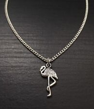 Silver Tone Flamingo Necklace, Great Gift