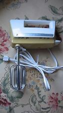 Vintage Hamilton Beach Mixette Model 97 Hand Mixer USA, 3 speed White-Gold