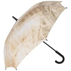 Pierre Cardin Compact Long Handled Umbrella (London underground cream Iconic)