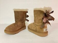 UGG TODDLER BAILEY BOW II S/N 1017394T TAN/CHESTNUT SIZE 9
