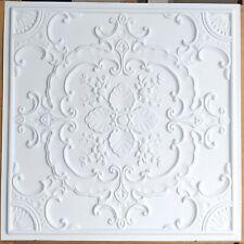 Ceiling tiles Faux tin white matt decor Barber saloon wall panel PL19 10pcs/lot