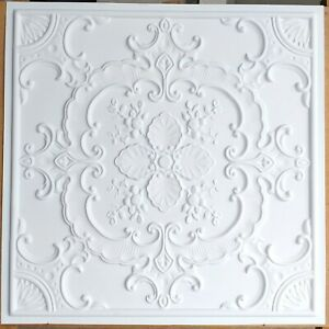 Ceiling tiles Faux tin white matt decor Barber saloon wall panel PL19 10pcs/lot