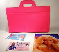 VINTAGE BARBIE DOLL PINK BRIEFCASE DAY-TO-NIGHT FASHION 1984 BLONDE PHOTO GIRL H