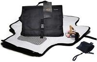 Portable Changing Pad for Diaper Bag| Includes Pacifier Holder| All Black