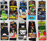Official Character Licensed Mens Socks Gaming Retro Cartoon TV Gamer Boys Gift