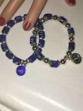 Two Evil Eye glass lampwork beaded bracelets !