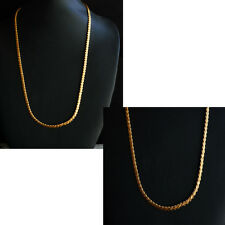Real LOOKING K 22 CT Placcato Oro Set-indiano CATENA 23 pollici HC9 COLLANA