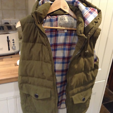 "MEN""S    NEW JACK WILLS QUILTED GREEN GILET-size small"