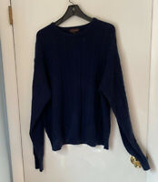 Harrison Cashmere Cableknit Pullover Sweater XL