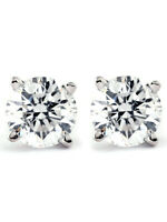 3/4Ct Natural Diamond Studs Available in 14K White And Yellow Gold Setting