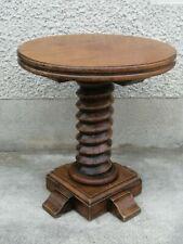 Ancienne table basse vis chêne coffee design art déco? Style dudouyt