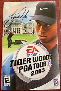 Tiger Woods 2003 Hand Signed Auto Autographed EA Sports PGA Tour Game