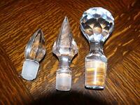 3 Pressglas  Flaschenstöpsel Flaschenverschluß Stöpsel für Flaschen Karaffen