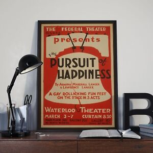 The Pursuit Of Happiness Vintage Theatre Advertising Poster Print Picture A3 A4