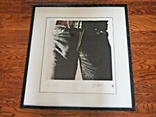The Rolling Stones Sticky Fingers art print lithograph Mick Jagger Numbered Rare