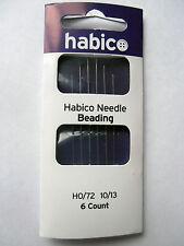 HABICO BEADING NEEDLES PK OF 6 10/13 CRAFTING EMBELLISHING BEAD WORK NEEDLE