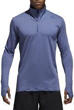 adidas Supernova Half Zip Mens Long Sleeve Running Top - Blue