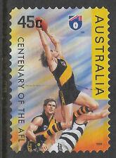 AUSTRALIA 1996 CENTENARY of AFL RICHMOND TIGERS Postage Stamp 1v Fine Used