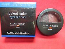 Laura Geller Baked Cake Eyeliner Duo~Plum Pudding & Black Forest~NIB SEALED