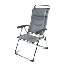 Kampa Milano Lusso Recliner Pebble Grey Camping Chair Soft Mesh Fabric FT0359