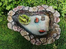 Miniature Dollhouse FAIRY GARDEN Accessories ~ Lazy Day Pond w Frog & Koi Fish
