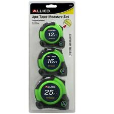 3pc Tape Measure Set- 12ft, 16ft, 25ft -Lifetime Warranty