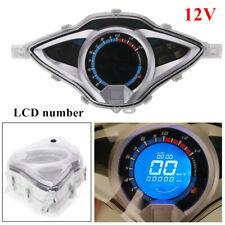 12V Motorcycle LCD Number Digital Odometer Speedometer Tachometer  Gauge Meter
