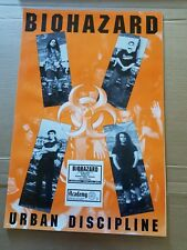 "Biohazard Urban Discipline poster 23.75"" x 35.75 1993 concert original"