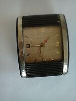 VINTAGE WESTCLOX 1950's Travel Alarm Clock Rolltop La Salle ILL U.S.A.