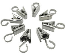24Pcs Metal Stainless Steel Shower Curtain Hanging Clips Hooks Accessories Bath