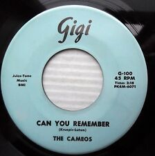 CAMEOS doowop 45 CAN YOU REMEMBER b/w ME on GIGI label with stamped matrix E7728