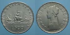 REPUBBLICA ITALIANA 500 LIRE 1966 R CARAVELLE FDC 1