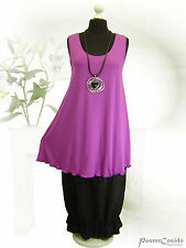 PoCo DeSiGn LAGENLOOK Top Tunika Long-Shirt Zwischenteil purple L-XL-XXL-XXXL