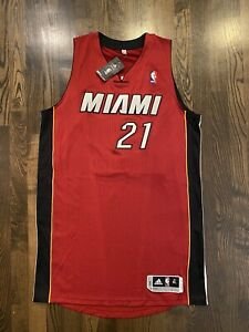 NWT Authentic Adidas Rev30 HASSAN WHITESIDE #21 Miami Heat Rookie Jersey Size XL