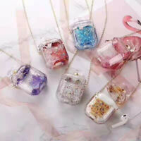 Case for Apple AirPods 2&1 Gen. Liquid Bling Case Glitter Shockproof Phone Cover