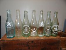 Lot 7 Anheuser Busch Pre Pro Prohibition Embossed Beer Brewery Bottles St Louis