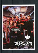 St Vincent & Grenadines 1997 MNH Star Trek Voyager 1v S/S Janeway Tuvok Stamps