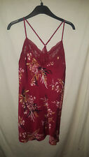 MARKS AND SPENCER RED SILKY ROSIE AUTOGRAPH NIGHTIE NEW /TAGS SZ 10 25.00 ON TAG