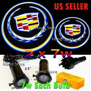 2x7w Cadillac Ghost Shadow Projector Laser Logo LED Courtesy Door Step Light