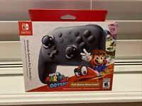🕹🔥Nintendo Switch Pro Controller with Super Mario Odyssey Full Game Bundle🔥🕹