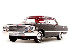 1963 CHEVROLET IMPALA HARD TOP BLACK 1:18 DIECAST MODEL CAR BY WELLY 19865