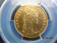 1807 DRAPED BUST 5.00 GOLD HALF EAGLE, PCGS GRADED UNC DETAILS! MINT LUSTER!