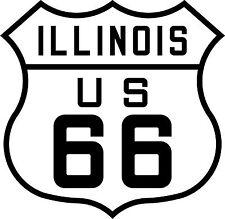 PREMIUM Autoaufkleber Route 66 USA Illinois US Sticker Aufkleber Auto Motorrad