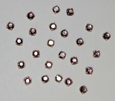 VINTAGE 24 AMETHYST GLASS RHINESTONE TINY SEW ON EMBELLISHMENT ROSE MONTEES 12ss