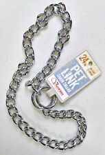 24in. Pet Link Chain Collar - Heavy 3.5mm Valhoma Corp.- Dog Choker Collar