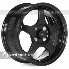 Circuit CP22 15x6.5 4-100 +35 Gloss Black Wheels Fits Honda Civic EG EK Spoon